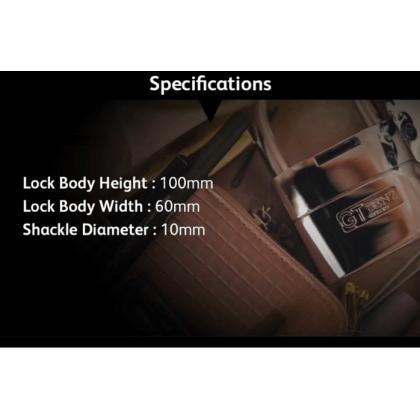 GT Benz 60mm GT-205 Single Alarm Padlock