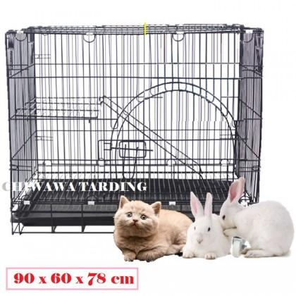 CG3【90 x 60 x 78cm】Pet Dog Cat Rabbit Cage Crate House Home / Rumah Haiwan Anjing Kucing Sangkar
