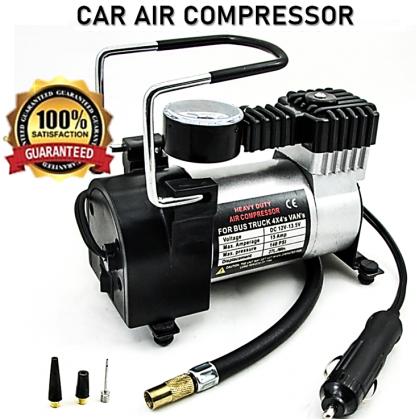 Heavy Duty Electric Auto Car Air Compressor Pump Tyre Inflator DC 12V 552 kPA