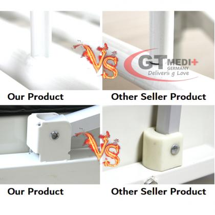 SSS-05 GT MEDIT GERMANY Single Crank 1 Turn Function Medical Hospital Nursing Bed with Mattress Dining Table Tilam Katil